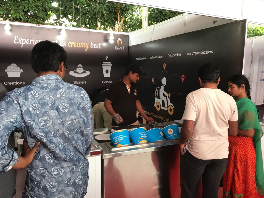 Hazel Ice Cream Cafe exhibition stall at FTAPCCI Food Industry Conclave held at Vijayawada on Jan 4 - 6, 2018 ( (5)