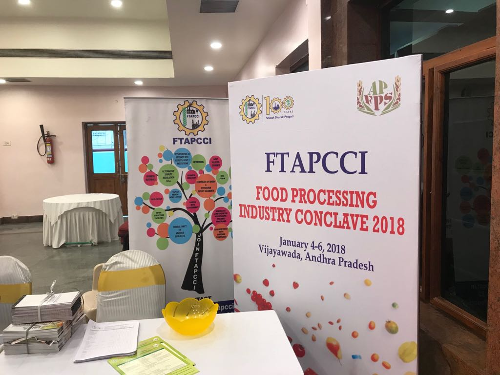 Hazel Ice Cream Cafe exhibition stall at FTAPCCI Food Industry Conclave held at Vijayawada on Jan 4 - 6, 2018 ( (6)