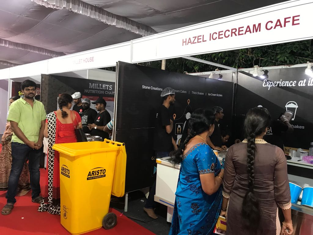 Hazel Ice Cream Cafe exhibition stall at FTAPCCI Food Industry Conclave held at Vijayawada on Jan 4 - 6, 2018 (
